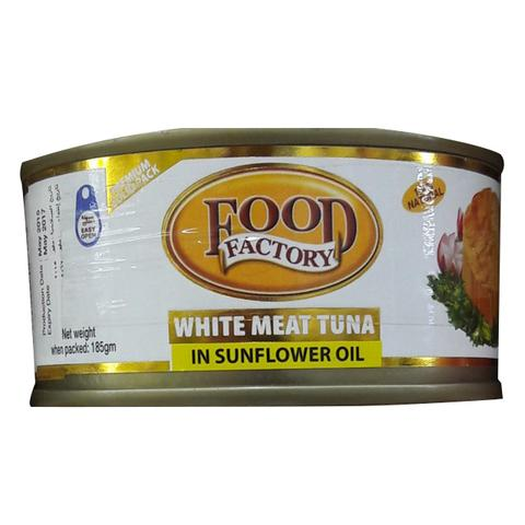 Food Factory White Meat Tuna in Sunflower Oil 185g