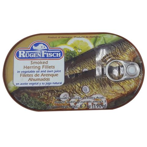 Rugenfish Smoked Herring Fillets 200g