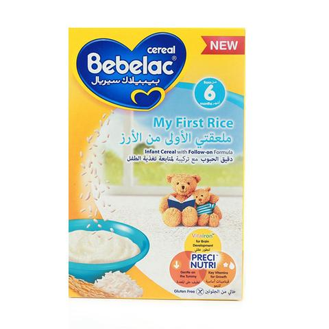 Bebelac Cereal My First Rice 6x125g