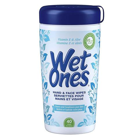 WetOnes Vitamin E and Aloevera Moist Wipes