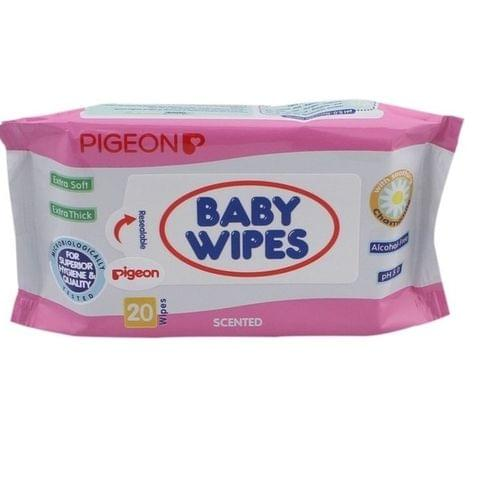 Pigeon Baby Wipes 20 Sheets
