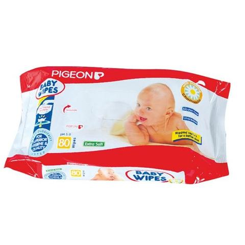 Pigeon Baby Wipes 80 Sheets