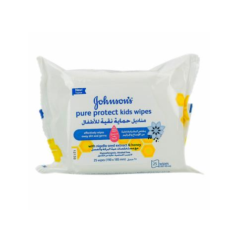 Johnson Pure Protect Wipes 25s