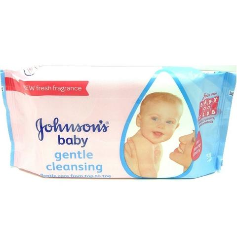 Johnson's Baby Gentle Cleansing Wipes 56s
