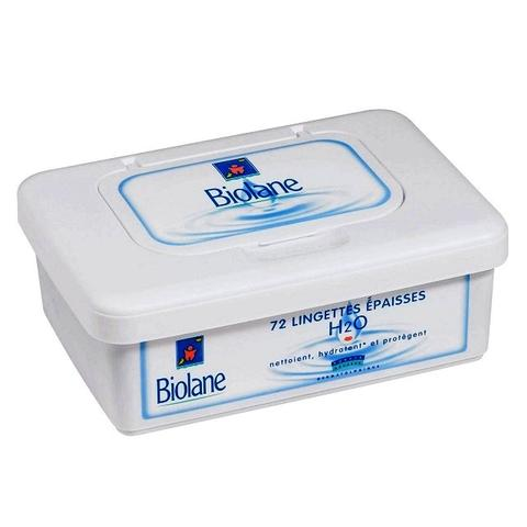 Biolane Thick H2O Baby Wipes 72s