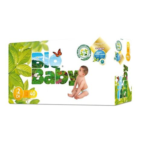 Biobaby Baby nappies no 2 5-8kg Diaper Size, 40s pack