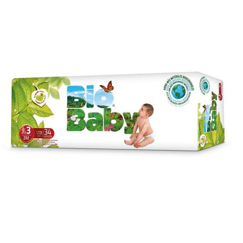 Biobaby Baby nappies no 3 7-10kg Diaper Size, 34s pack