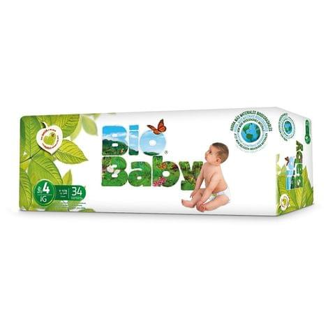 Biobaby Baby nappies no 4 9-13kg Diaper Size, 34s pack