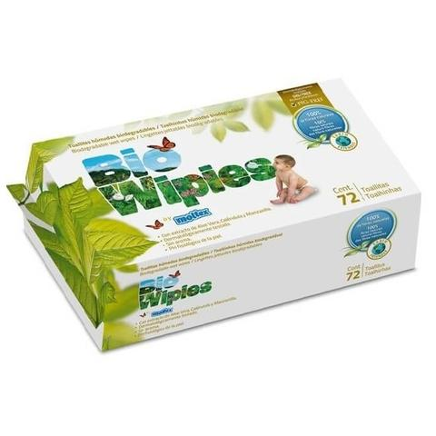 Biobaby Biowipies Baby Wipes 72's