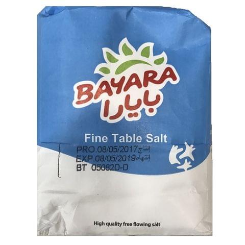 Bayara fine table salt - 1kg