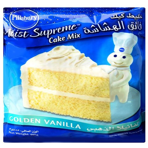Pillsbury Golden Vanilla Cake Mix 485gm