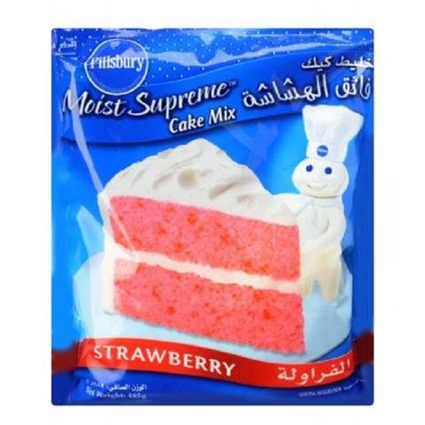 Pillsbury Strawberry Cake Mix 485gm