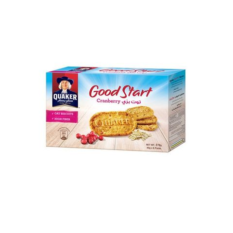 Quaker Good Start Biscuit Cranberry 24x45g