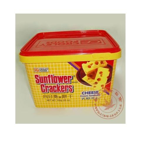 Sunflower Biscuits Cheese Tin