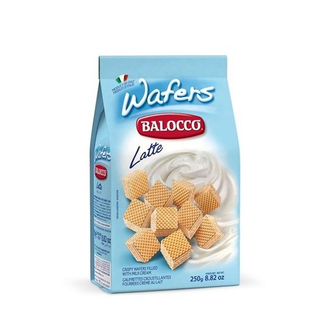 Balocco Wafers Bags Latte 250 Grms
