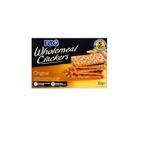 FOX'S Wholemeal Crackers 250g