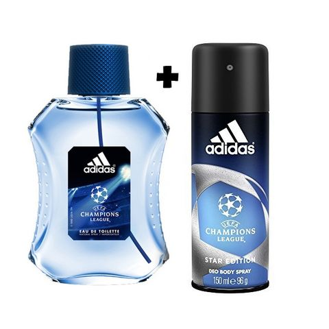 Adidas  Champions League Male Edt 100ml+Deo 150ml