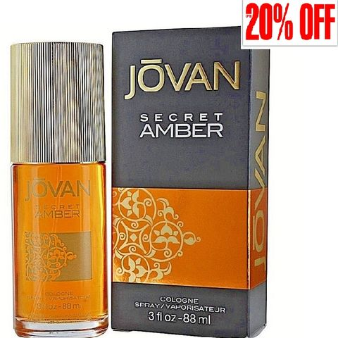 Jovan Secret Amber EDT 88ml@20%Off
