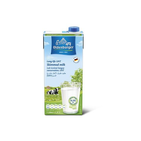 Oldenburger Uht Skimmed Milk 4x 1Ltr