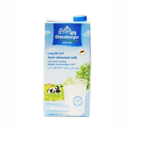 Oldenburger Uht Semi Skimmed Milk 4 x 1ltr