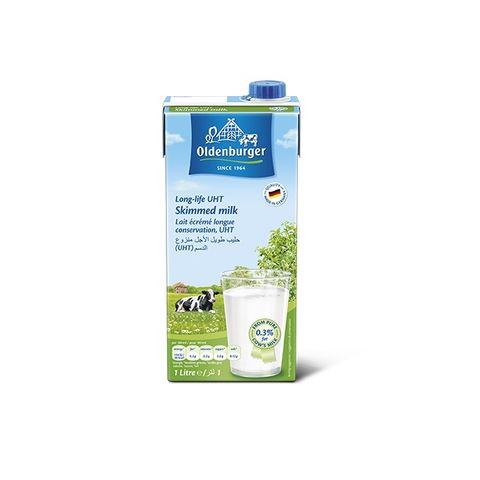 Oldenburger Uht Skimmed Milk 12x1Ltr