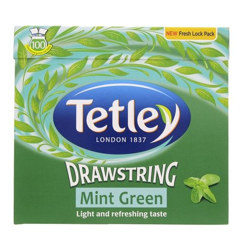 Tetley Ds Green Mint 100x1.5gm