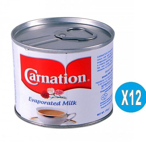 Carnation  Evaporated Milk 12x170gm