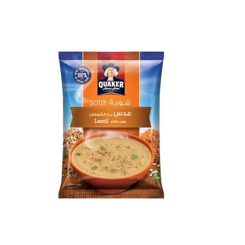 Quaker Soup Lentil With Oats 12x63gm