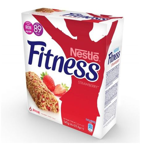 Fitness Strawberry Cereal Bar 6x23.5g