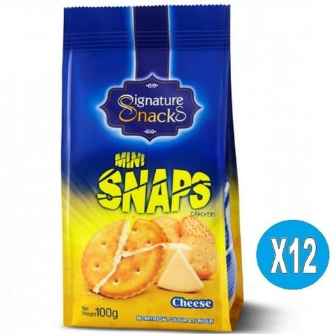 Snaps Cracker Cheese Flavour 12x100g