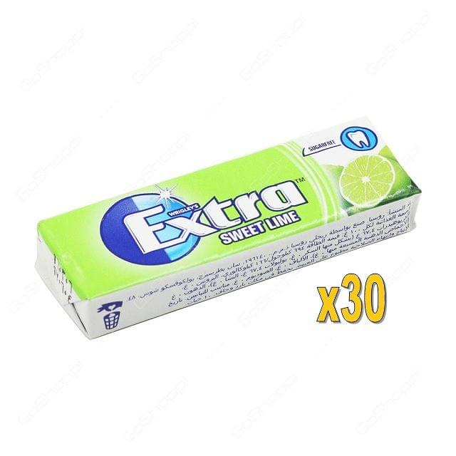 Wrigley 30x14g Extra-Sweet Lime Pelle