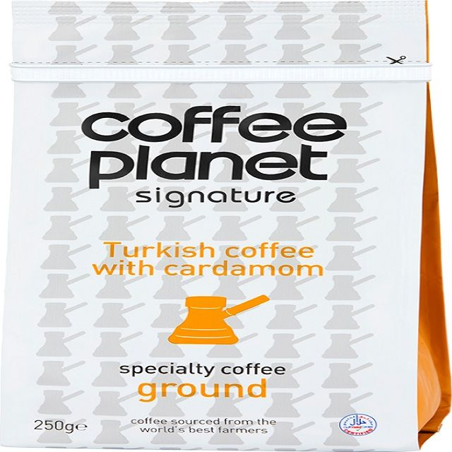 Coffee Planet Turkish With Cardamom Coffee Ground 250g