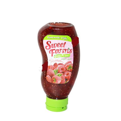 Sweet Farms Raspberry Jam In A Squeezable 440g