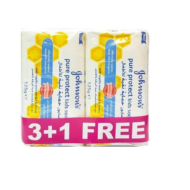 Johnson Soap Pure Protect125g 3+1 Free