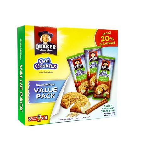 Quaker Oats Cookies Apple & Cinnamon x6s