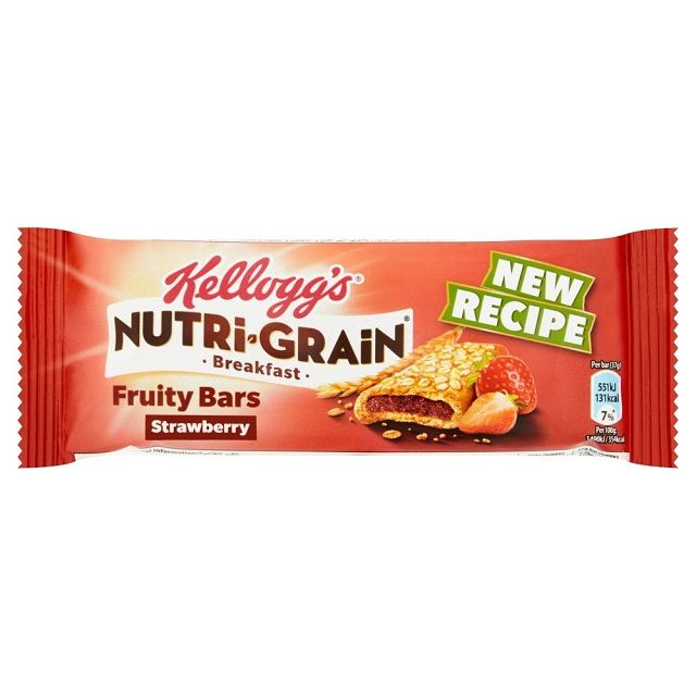 Kellogg's Nutrigrain Bar Strawberry-Gbr 37g