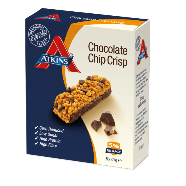Atkins Choco Chip Crisps Daybreak 5 x 30gm