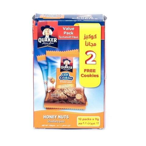 Quaker Oats Cookies Honey Nut (10+2)x9g