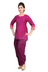 SALWAR - COTTON, PURPLE