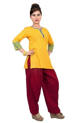 SALWAR - COTTON, MAROON