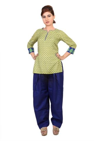 SALWAR - COTTON, ROYAL BLUE