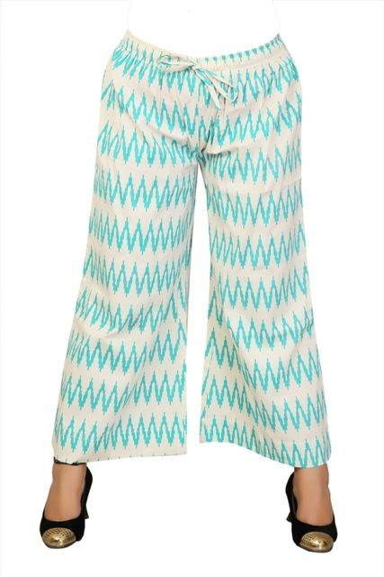 PALAZZO OFF WHITE & TEAL