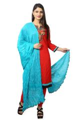 SKY BLUE COTTON DUPATTA