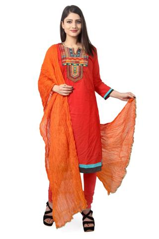 ORANGE COTTON DUPATTA