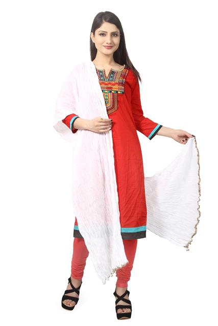 WHITE COTTON DUPATTA