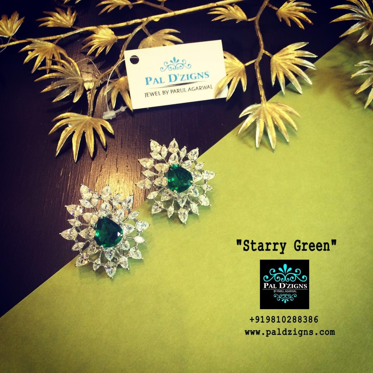 Starry Green Diamond earring