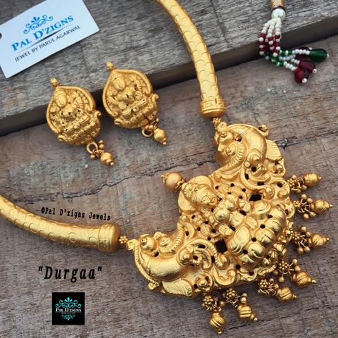 Temple jewellery durgaa set temple jewellery aloadofball Choice Image