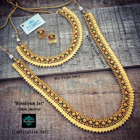 Nivediyam Combo Set -Temple Jewellery