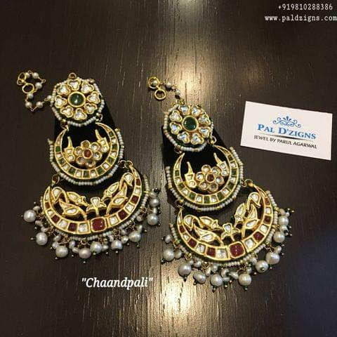 Chandpali Kundan Earings