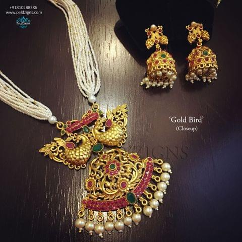 Gold Bird Temple Jewellery